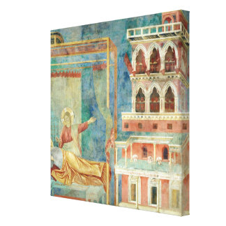 St. Francis Dreams of a Palace full of Weapons Canvas Print