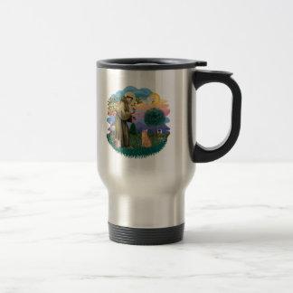 St Francis (ff) - Orange Tabby cat Travel Mug