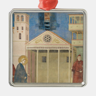 St. Francis Honoured by a Simple Man, 1297-99 Silver-Colored Square Decoration