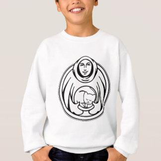 St Francis Hospice black logo Sweatshirt