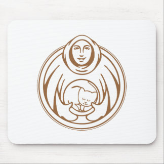 St Francis Hospice for cats brown logo Mouse Mat