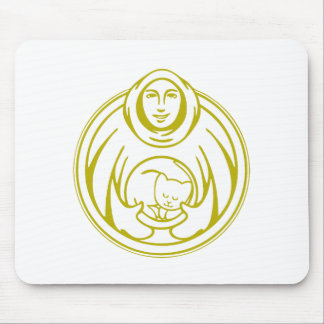 St Francis Hospice for cats gold logo Mouse Pad