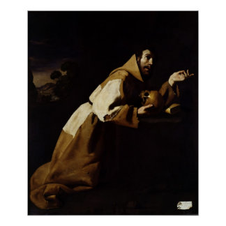 St. Francis in Meditation, 1639 Poster