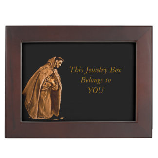 St Francis Kneeling in Prayer Keepsake Box