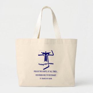 St Francis Large Tote Bag