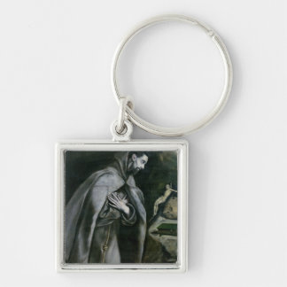 St. Francis of Assisi, 1580-95 Silver-Colored Square Key Ring