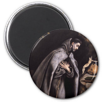 St. Francis of Assisi 6 Cm Round Magnet