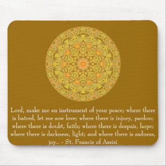 St. Francis of Assisi about FAITH Mouse Mat