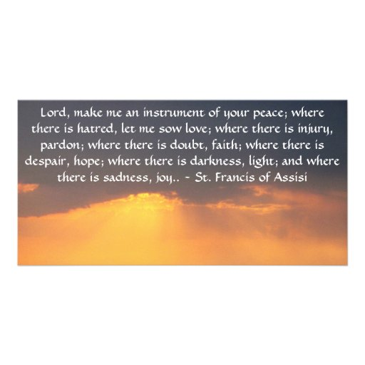 St. Francis of Assisi about FAITH Personalized Photo Card