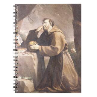 St. Francis of Assisi at Prayer Notebook