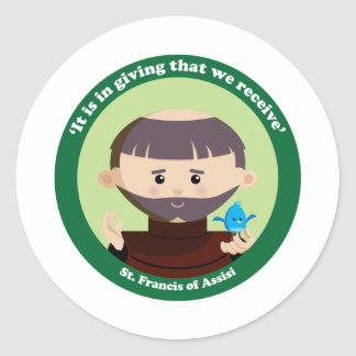 St. Francis of Assisi Classic Round Sticker