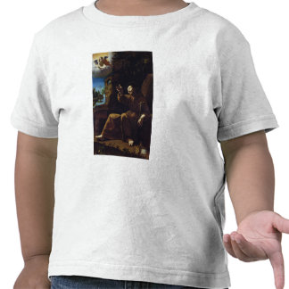 St. Francis of Assisi Consoled by an Angel Tee Shirts