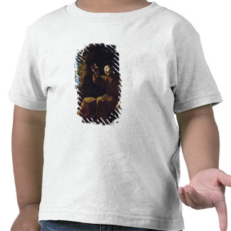 St. Francis of Assisi Consoled by an Angel Tshirt