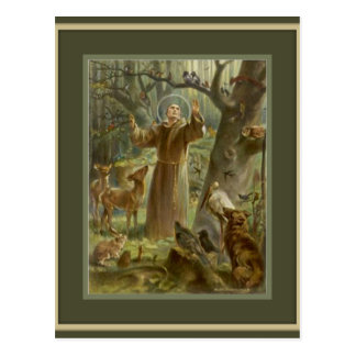 St. Francis of Assisi, lover of animals Postcard
