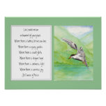 St. Francis of Assisi Prayer Common Tern Bird Poster