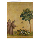 St. Francis of Assisi preaching to the birds Card
