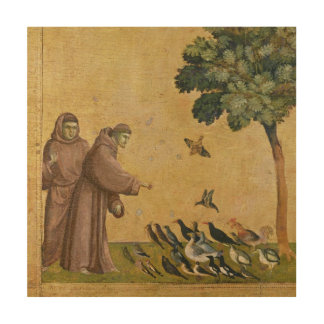 St. Francis of Assisi preaching to the birds Wood Canvases
