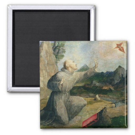 St. Francis of Assisi Receiving the Stigmata Fridge Magnet
