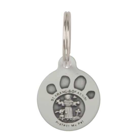 St. Francis Of Assisi Round Pet Tag