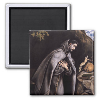 St. Francis of Assisi Square Magnet