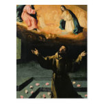 St. Francis of Assisi,The Miracle of the Roses Post Card