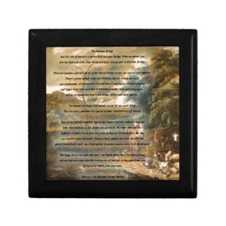 St. Francis of Assisi & The Rainbow Bridge Small Square Gift Box