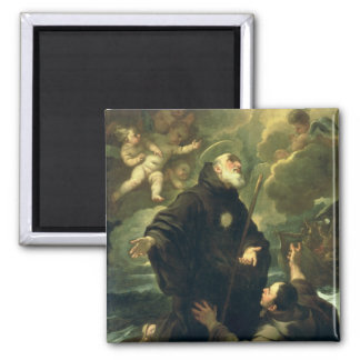 St Francis of Paola, 1416-1507) Square Magnet