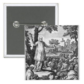 St. Francis of Sales  preaching to the 15 Cm Square Badge