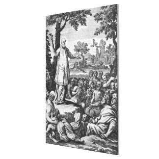 St. Francis of Sales  preaching to the Canvas Print