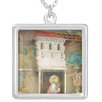 St. Francis Praying in the Church of San Silver Plated Necklace