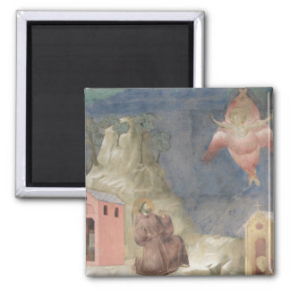 St. Francis Receiving the Stigmata, 1297-99 Square Magnet