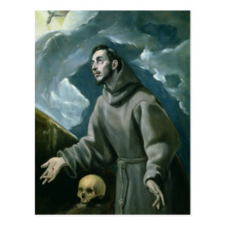 St Francis Receiving the Stigmata oil on canvas Post Card