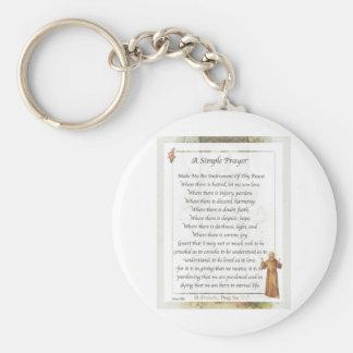 st. francis simple prayer key ring