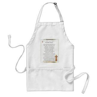 st. francis simple prayer standard apron