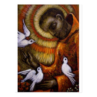 St. Francis with Doves, Postcard, Mug, Hat, iPhone Postcard