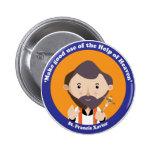 St. Francis Xavier 6 Cm Round Badge
