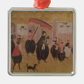 St. Francis Xavier  and his entourage Christmas Ornament