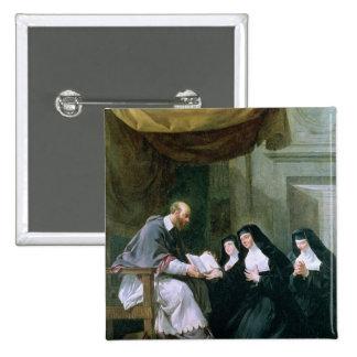 St. Francois de Sales  Giving the Rule 15 Cm Square Badge