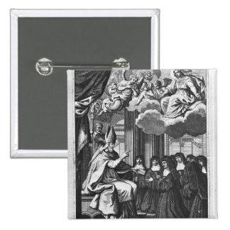St. Francois de Salles  Giving the Rule 15 Cm Square Badge