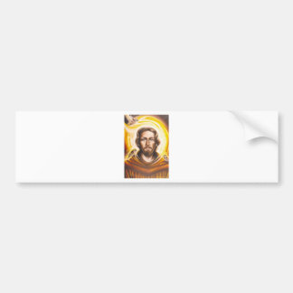 St. Franics Halo, hat, mug, pet tag, key chain etc Bumper Sticker