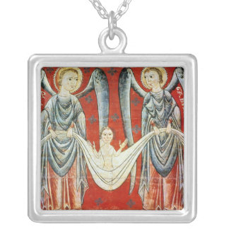 St. Gabriel and St. Raphael, c.1200 Silver Plated Necklace