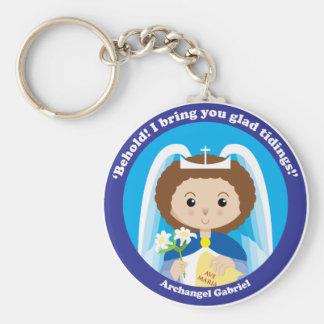 St. Gabriel the Archangel Basic Round Button Key Ring