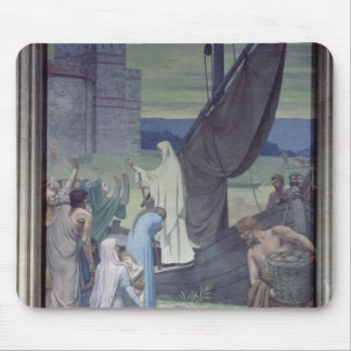 St. Genevieve Bringing Supplies Mouse Mat