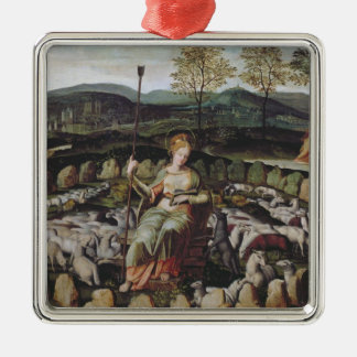 St. Genevieve Guarding her Flock Christmas Ornament
