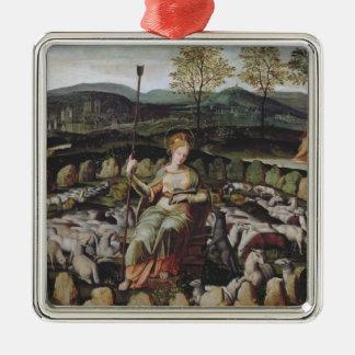 St. Genevieve Guarding her Flock Christmas Ornament