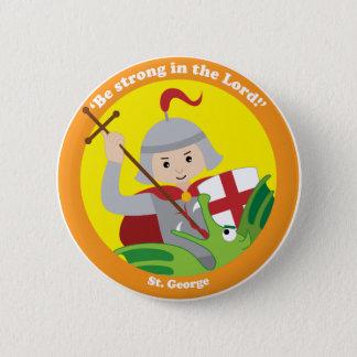 St. George 6 Cm Round Badge