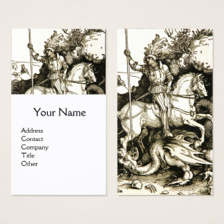 ST. GEORGE AND DRAGON , Black White Business Card