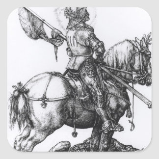 St. George and the Dragon, 1508 Square Sticker