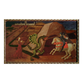 St. George and the Dragon, c.1439-40 Poster
