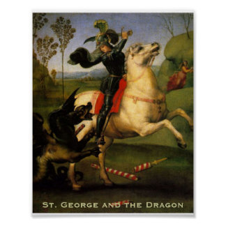 """""""St. George and the Dragon"""" Poster"""